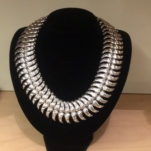 Uno de 50 brand new silver statement necklace